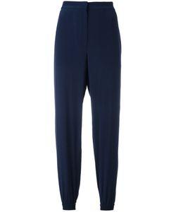 Cedric Charlier   Cédric Charlier Elasticated Cuffs Cropped Trousers 44 Silk
