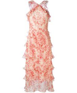 VILSHENKO | Платье С Цветочным Принтом И Оборкой