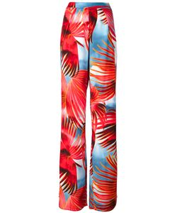 Just Cavalli | Tropical Print Palazzo Pants 40 Viscose
