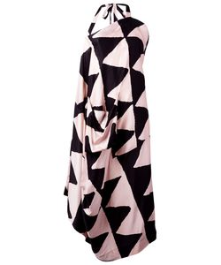 Vivienne Westwood Anglomania | Triangular Print Asymmetric Dress