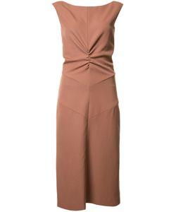 Nina Ricci | Gathe Waist Dress 36 Cotton