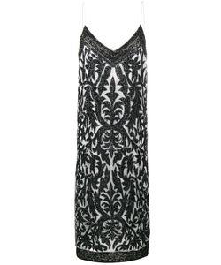 Ganni | Платье Без Застежки С Декоративными Листьями