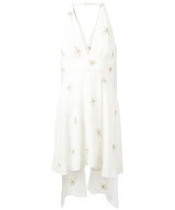 Saint Laurent | Halter Neck Star Embellished Dress 38