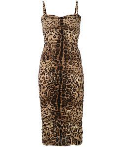 Dolce & Gabbana | Приталенное Платье С Присборенной Отделкой