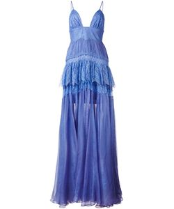 Maria Lucia Hohan | Claraamparo Tie Gown 38 Silk/Polyamide/Viscose/Nylon