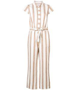 Frame Denim | Tie Waist Striped Jumpsuit