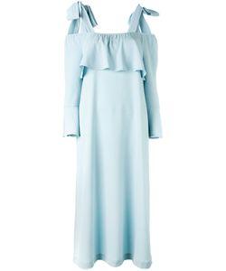 Ganni | Fluted Sleeve Cold Shoulder Dress Size 42