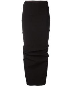 Rick Owens | Full Draped Skirt 42 Cotton/Spandex/Elastane/Viscose