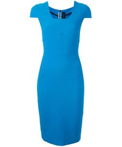 Roland Mouret | Fitted Dress 10 Polyester/Viscose/Spandex/Elastane