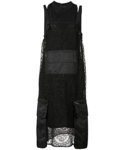 Vera Wang | Pocket Detailed Dress 6 Silk/Nylon/Cotton