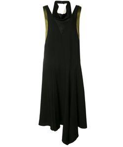 Lanvin   Contrast Draped Dress 40 Silk