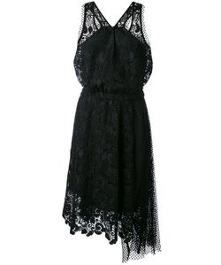 No21 | Embroidered Lace Halter-Neck Dress