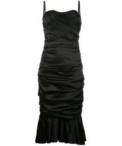 Dolce & Gabbana | Ruched Bustier Dress 44 Silk/Spandex/Elastane/Silk
