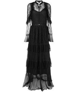 Just Cavalli | Кружевное Длинное Платье С Рюшами