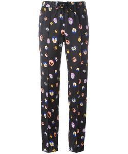 Christopher Kane | Pansy Print Track Pants 38 Viscose/Acetate/Silk