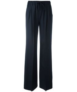 Max Mara | Drawstring Wide-Leg Trousers 42 Virgin Wool