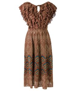 Gig | Ruffled Knit Dress Medium Lurex/Polyamide/Viscose