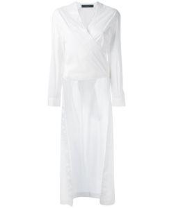 Federica Tosi   Hi-Low Wrap Shirt Size Xs