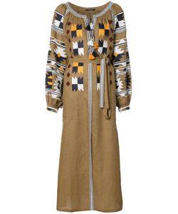 Vita Kin   Aztec Stylised Dress Small Linen/Flax