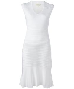 Michael Michael Kors | Frill-Hem Fitted Dress Medium Viscose/Polyamide/Spandex/Elastane