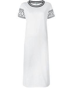 Kenzo | Printed Midi T-Shirt Dress Small Cotton