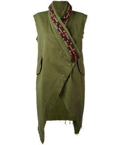BAZAR DELUXE   Embroide Collar Waistcoat 38 Cotton/Spandex/Elastane