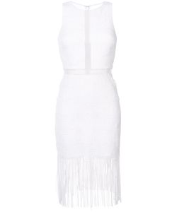 Nicole Miller | Fringed Hem Dress