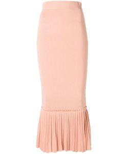 Jonathan Simkhai | Ruffled Hem Fitted Skirt Small Rayon/Nylon