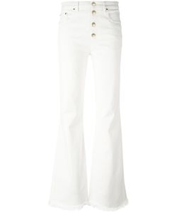 Sonia Rykiel | Frayed Ends Bootcut Jeans 40 Cotton/Spandex/Elastane/Polyester