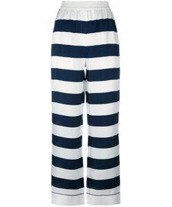 Dolce & Gabbana | Striped Palazzo Pants 42 Silk