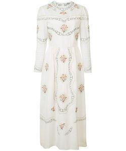 VILSHENKO | Embroidered Midi Dress Size 10