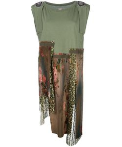 Antonio Marras | Casual Asymmetric Patchwork Dress 1 Cotton/Polyester/Spandex/Elastane