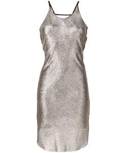 Alessandra Marchi | Платье С Эффектом Металлик