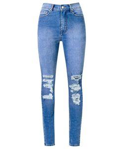 Amapô | Distressed High Waist Skinny Jeans Size 44