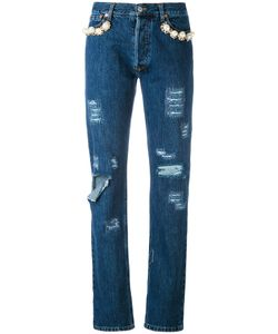 FORTE COUTURE | Embellished Distressed Jeans