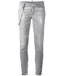 Dsquared2 | Skinny Chain Trim Jeans 38 Cotton/Spandex/Elastane