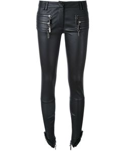 Thomas Wylde | Zip Detail Leather Trousers Women Silk/Lamb