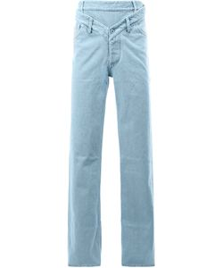 Y / PROJECT | Double-Waistband Loose-Fit Jeans Small Cotton