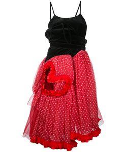Comme Des Garcons | Бархатное Платье С Заплаткой В Виде Сердца Vintage