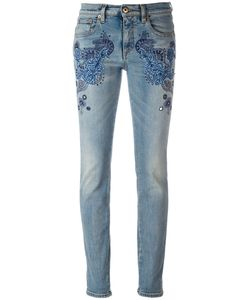 Roberto Cavalli | Embroide Vintage Effect Skinny Jeans 42