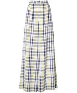 Adam Lippes | Wide Leg Plaid Trousers 4 Cotton
