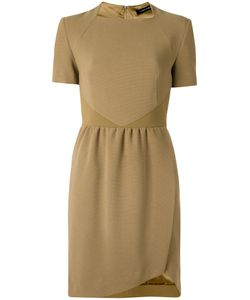 GLORIA COELHO | Round Neck Pleated Dress