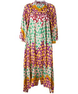 Tsumori Chisato | Patterned Shift Dress Medium Rayon