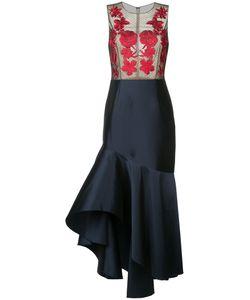 Sachin And Babi | Embroidered Ruffle Dress Women Polyester/Spandex/Elastane/Nylon