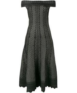 Alexander McQueen | Off-Shoulder Printed Midi Dress Medium Viscose/Silk/Polyester