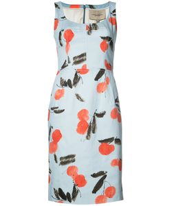 Carolina Herrera | Cherry Print Sleeveless Dress