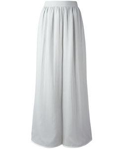 Giorgio Armani | Gathe Waistband Palazzo Trousers 42 Cotton/Silk/Acetate