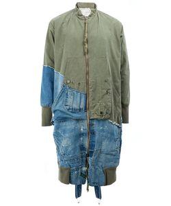 GREG LAUREN | Panelled Flight Coat 2 Cotton