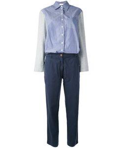 Semicouture | Button Up Contrast Jumpsuit