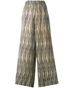 UMA WANG   Taonga Printed Palozzo Trousers Size Small